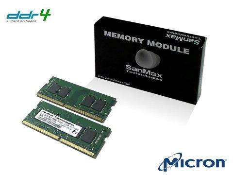 SMD4-S16G48M-24R-D D4SO 2400 8Gx2 C17 MT 01 PCパーツ SanMaxPC用メモリー ノート用