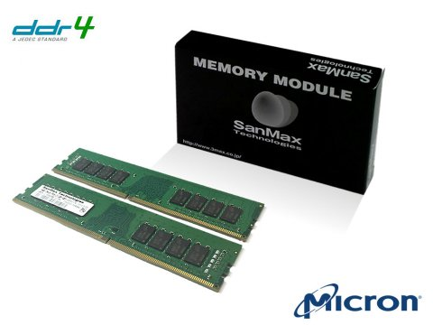 SMD4-U32G48M-24R-D D4 2400 16Gx2 C17 MT 01 PCパーツ SanMaxPC用メモリー デスクトップ用