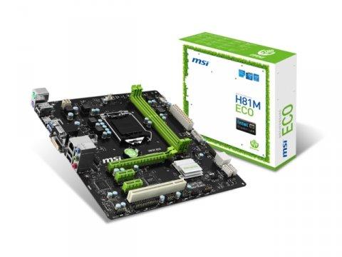 MSI H81M ECO 01 PCパーツ マザーボード | メインボード Intel用メインボード
