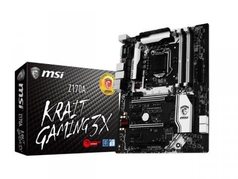 MSI Z170A KRAIT GAMING 3X 01 PCパーツ マザーボード | メインボード Intel用メインボード