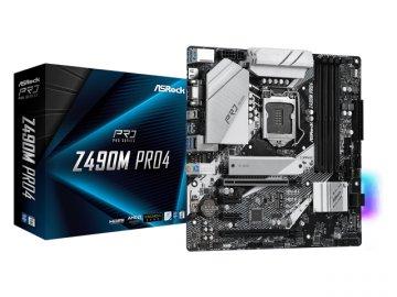 ASRock Z490M Pro4 01 PCパーツ マザーボード | メインボード Intel用メインボード