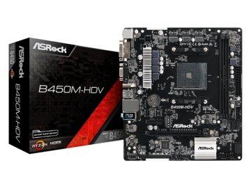 ASRock B450M-HDV 01 PCパーツ マザーボード   メインボード AMD用メインボード