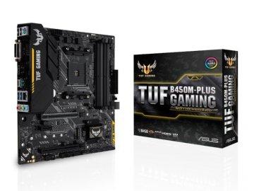 ASUS TUF B450M-PLUS GAMING 01 PCパーツ マザーボード | メインボード AMD用メインボード