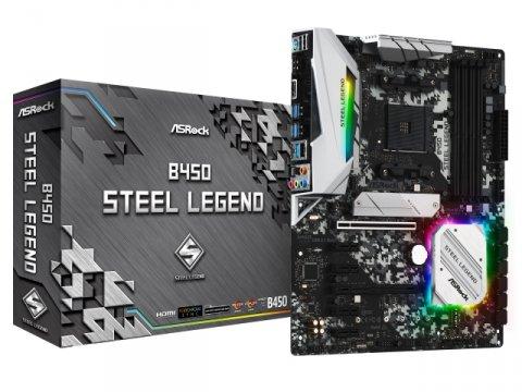 ASRock B450 Steel Legend 01 PCパーツ マザーボード | メインボード AMD用メインボード