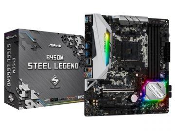 ASRock B450M Steel Legend 01 PCパーツ マザーボード | メインボード AMD用メインボード
