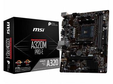 MSI A320M PRO-E 01 PCパーツ マザーボード | メインボード AMD用メインボード