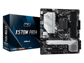 ASRock X570M Pro4 01 PCパーツ マザーボード   メインボード AMD用メインボード