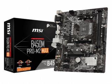 MSI B450M PRO-M2 MAX 01 PCパーツ マザーボード | メインボード AMD用メインボード