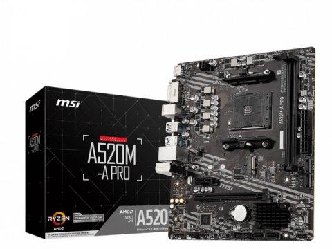 MSI A520M-A PRO 01 PCパーツ マザーボード | メインボード AMD用メインボード