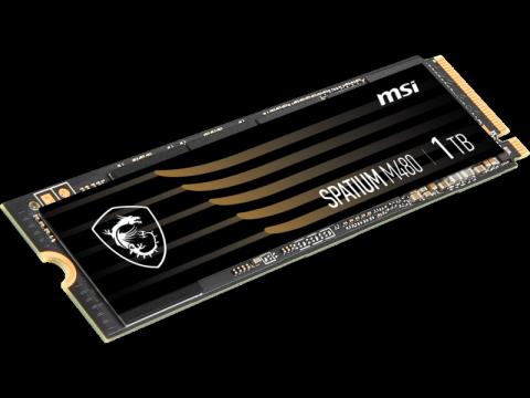 MSI SPATIUM M480 PCIe 4.0 NVMe M.2 1TB