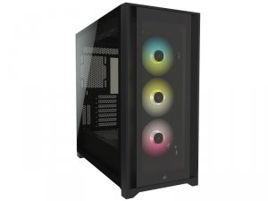 iCUE 5000X RGB Tempered Glass Black