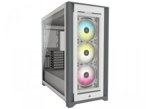 iCUE 5000X RGB Tempered Glass White