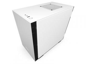 NZXT CA-H210B-W1 H210B 白/黒 01 PCパーツ PCケース | 電源ユニット PCケース