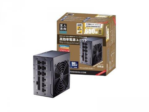 玄人志向 KRPW-GK650W/90+ 01 PCパーツ PCケース | 電源ユニット 電源ユニット