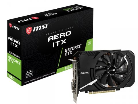 MSI GeForce GTX 1660 AERO ITX 6G OC 01 PCパーツ グラフィック・ビデオカード PCI-EXPRESS
