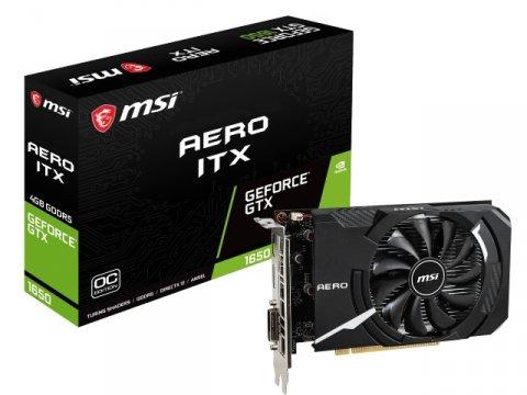 MSI GeForce GTX 1650 AERO ITX 4G OC 01 PCパーツ グラフィック・ビデオカード PCI-EXPRESS