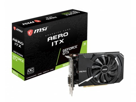 MSI GeForce GTX 1650 AERO ITX 4G OCV1 01 PCパーツ グラフィック・ビデオカード PCI-EXPRESS