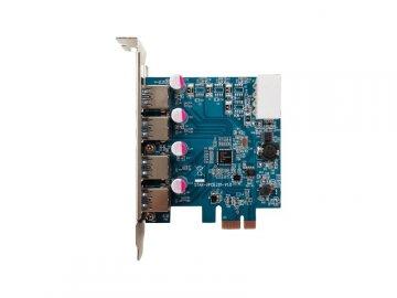 玄人志向 USB3.0RA-P4-PCIE 01 PCパーツ 周辺機器 拡張カード USB・IEEE1394カード