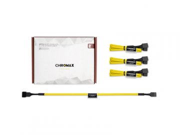 Noctua NA-SEC1 chromax.yellow 01 PCパーツ PCアクセサリー ケーブル・コネクタ