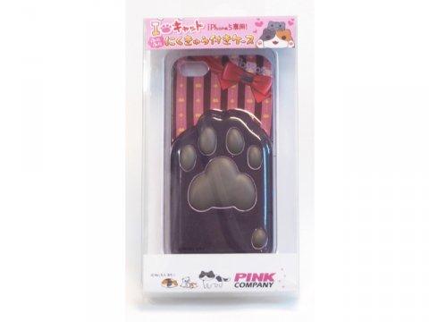 にゃんこ iPhone5用ケース 肉球B(チョコ)