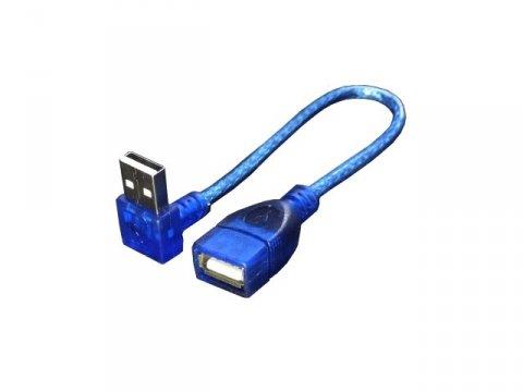 変換名人 USBA-CA20UL 上L型USB延長cable