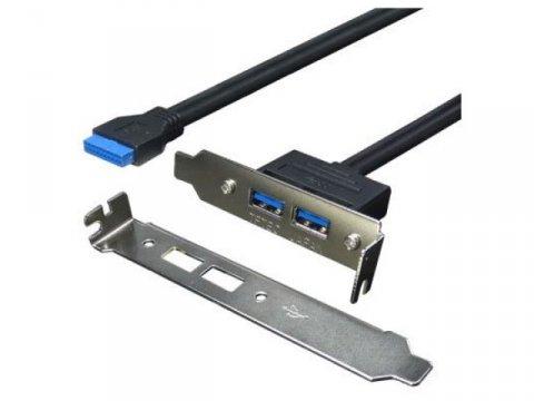 変換名人 PCIB-USB3/2FL USB3.0ブラケット