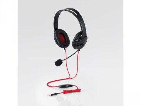 ゲーム向け/4極/両耳オーバーヘッド/1.0m/1.5m延長ケーブル付/PS4/Switch対応/ブラック