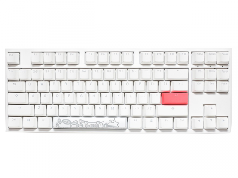 One 2 TKL RGB Pure White Cherry Speed Silver