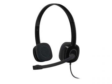 Logicool Stereo Headset H151 H151R 01 PCパーツ 周辺機器 PCサウンド | オーディオ関連 ヘッドセット