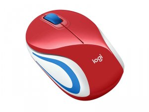 Logicool Wirelesss Mini Mouse M187r レッド