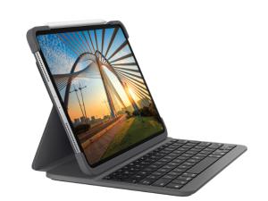 Logicool SLIM FOLIO PRO for iPad Pro 12.9-inch (第3、第4世代用)バックライト付 Bluetooth キーボード一体型ケース