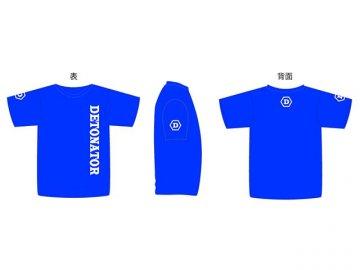 DeToNator Original T-shirts L-size Blue 01 ゲーム その他・趣味 ゲーム関連グッズ APPAREL