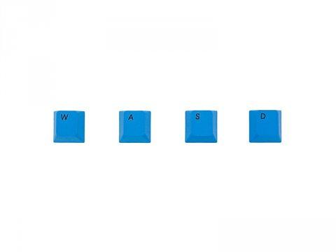 PBTカラーアクセサリーキーキャップ 青WASDキー