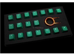 Tai-Hao Rubber Gaming Backlit Keycaps-18 keys Green