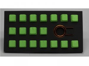 Tai-Hao Rubber Gaming Backlit Keycaps-18 keys Neon Green