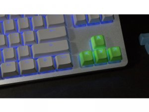 Tai-Hao Rubber Gaming Backlit Keycaps-8 keys Neon Green