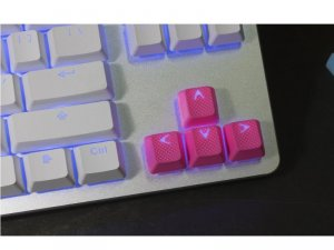 Tai-Hao Rubber Gaming Backlit Keycaps-8 keys Neon Pink