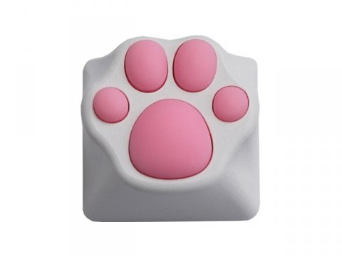 Varmilo ZOMO Kitty Paw White Pink Plastic Key Cap for Cherry MX Switches