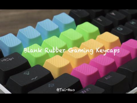 Tai-Hao Blank Rubber Gaming Keycaps-4 Keys (1u) Neon Blue R1