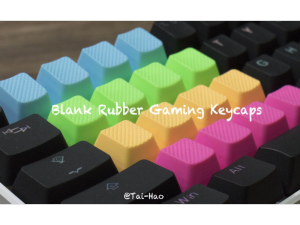 Tai-Hao Blank Rubber Gaming Keycaps-4 Keys (1u) Neon Orange R1