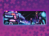 SteelSeries Qck Prism XL Neon Rider Edit
