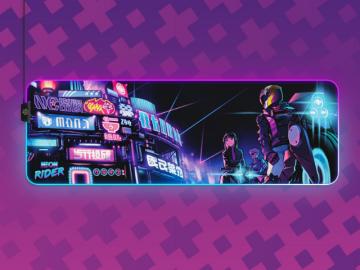 SteelSeries Qck Prism XL Neon Rider Edit 01 ゲーム ゲームアクセサリー マウスパッド