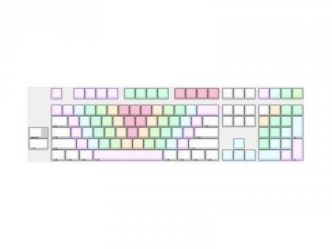 POM Jelly Keycaps Rainbow ANSI full kit