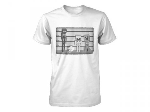 Minecraft Lineup Youth Tee White (S)