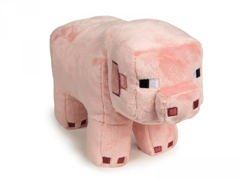 Minecraft 12 Pig Plush With Hang Tag