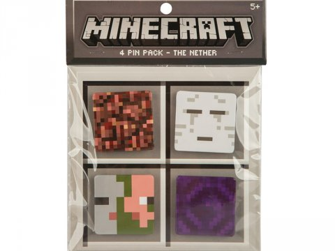 Minecraft Nether 4 Button Pack