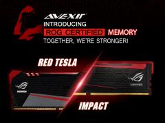 プラズマチューブやライトバーを搭載したASUS ROG認証メモリー「RED TESLA」、「IMPACT」が ...