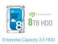 24時間365日稼動を前提、Seagate SATA 3.5インチHDD 8TBモデルに大容量データ・ストレージ向け「Enterprise Capacity」シリーズ