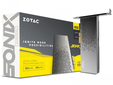 リード最大2,600MB/s、東芝製MLC NAND採用PCI-Express型NVMe 1.2対応480GB SSDがZotacから