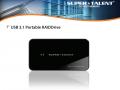 外付けでリード最大750MB/sec、USB 3.1 Gen2接続対応RAID動作のSSD「USB3.1 Portable RAIDDrive」がSuperTalentから